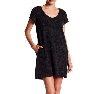 ATM Sweatshirt Mini Casual Charcoal Dress